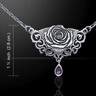 Hex Sacred Rose Necklace with Amethyst