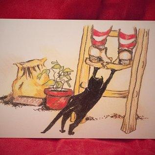 Hex Gotcha Postcard by Sabrina the Ink Witch