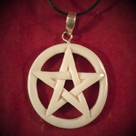 Hex Bone Pentacle Necklace