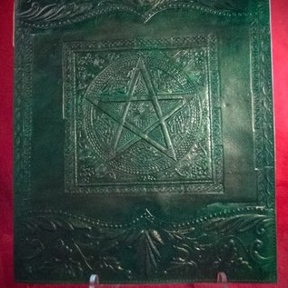 Hex Large Pentacle in Square Journal in Green
