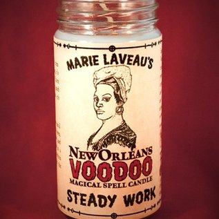 Hex Steady Work - Marie Laveau's New Orleans Voodoo Spell Candle