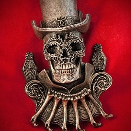 Hex Baron Samedi Wall Plaque in Silver Finish