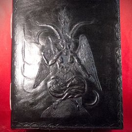 Hex Small Baphomet Journal in Black
