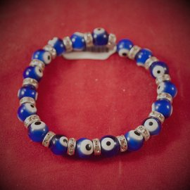 Hex Evil Eye Bracelet Blue 4mm