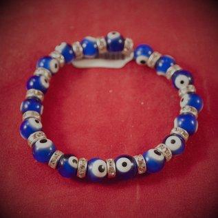 Hex Evil Eye Bracelet Blue 4mm