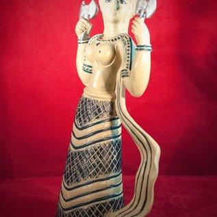 Hex Labrys Goddess of Crete Statue