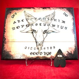 Hex Baphomet Spirit Board with Planchette by Heather Reid