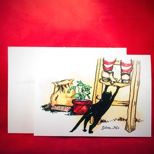 Hex Greeting Card - Gotcha by Sabrina the Ink Witch