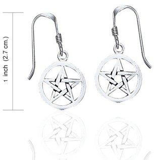 Hex Pentacle Dangle Earrings