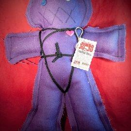 Hex Mama Kyri's Jumbo Ju-Ju Burlap Voodoo Doll in Purple