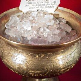 Hex Tumbled Quartz Crystal