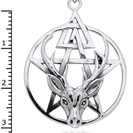 Hex Stag and Pentacle Third Degree Pendant