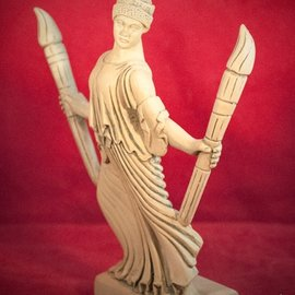 Hex Hecate with Torches Statue