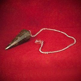 Hex Labradorite 12 Faceted Pendulum
