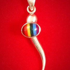 Hex Italian Horn with Rainbow
