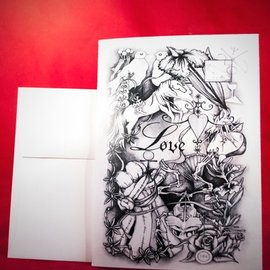 Hex Greeting Card - Love Spell by Sabrina The Ink Witch
