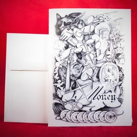 Hex Greeting Card - Money Spell by Sabrina The Ink Witch