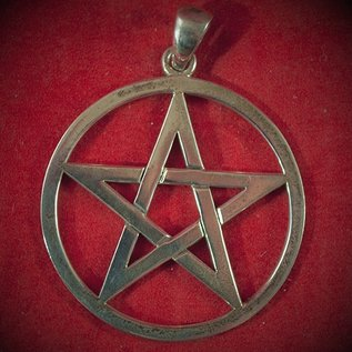 Hex Omen 1.5 Inch Pentacle in Silver