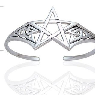 Hex Pentacle Bracelet with Knotwork Cuff