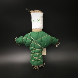 Hex Old New Orleans Voodoo Doll in Green