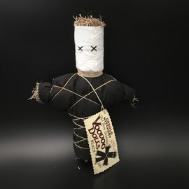 Hex Old New Orleans Voodoo Doll in Black