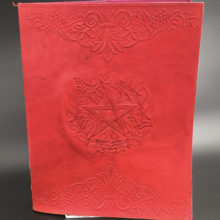 OMEN Large Herbal Pentagram Journal in Red