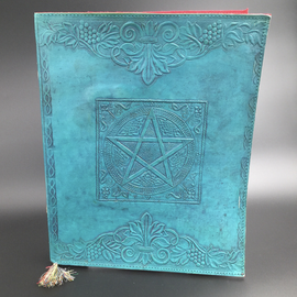 OMEN Large Pentacle in Square Journal in Blue