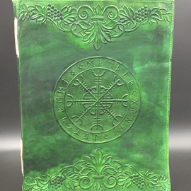 OMEN Large Aegishjalmur Runic Journal in Green