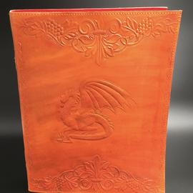 OMEN Large Dragon Journal in Orange