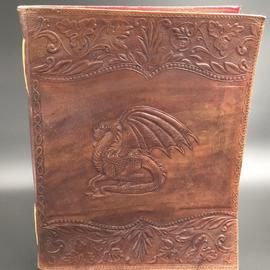 OMEN Large Dragon Journal in Brown