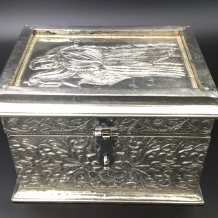OMEN Silver Tarot Box with The Hermit