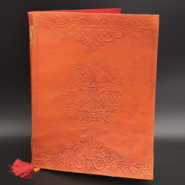 OMEN Large Herbal Pentagram Journal in Orange