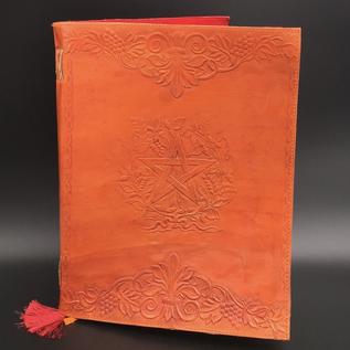 OMEN Large Herbal Pentagram Journal in Orange
