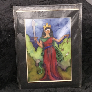 OMEN Justice - Signed and Matted Tarot Print