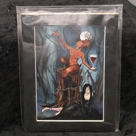 OMEN The Devil - Signed and Matted Tarot Print