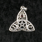 OMEN Trinity Pendant with Sun, Moon, Pentacle, and Garnet