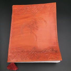 OMEN Large Flying Dragon Journal in Orange