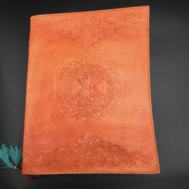 OMEN Large Celtic Tree Journal in Orange