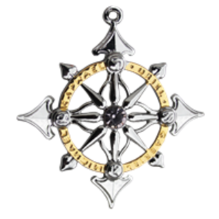 OMEN Archangel Compass Pendant - Harmony in People & Places