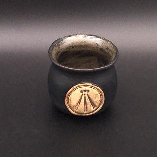 OMEN Little Cauldron Pot in Black with Awen Symbol