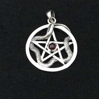 OMEN Pentacle with Snake and Garnet