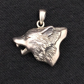 OMEN Howling Wolf Silver Pendant