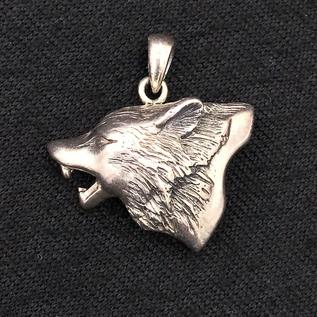 OMEN Howling Wolf Silver Pendant