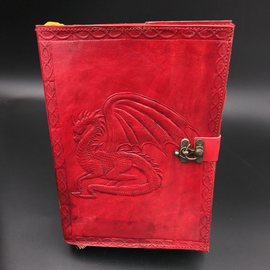 OMEN Small Dragon Journal in Red