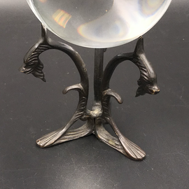 OMEN Antique Dragon Crystal Ball Stand