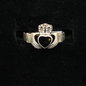 OMEN Claddagh Sterling Ring with Enamel Inlay