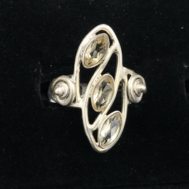 OMEN Triple Citrine Sterling Ring