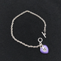 OMEN Good Luck Lavender Jade Heart Bracelet