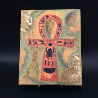OMEN Laurie Cabot original painting of Tut Ankh