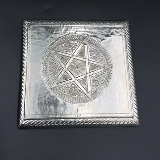 OMEN Embossed Metal Pentacle Plaque